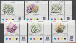 Malta 1999 - Mi:1099/1104, Yv:1072/1077, Stamp - XX - Long-term Series Flowers - Malta