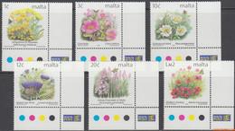 Malta 2000 - Mi:1138/1143, Yv:1111/1116, Stamp - XX - Long-term Series Flowers - Malta