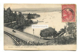 Launceston, Tasmania - River Tamar And King's Bridge - Old Australia Postcard - Lauceston