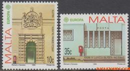 Malta 1990 - Mi:831/832, Yv:810/811, Stamp - XX - Europe 1990 Post Offices - Malta