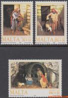 Malta 1990 - Mi:850/852, Yv:829/831, Stamp - XX - Christmas - Malta