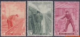 België 1942 - Mi:eisenbahn 249/251, Yv:CP 260/262, OBP:TR 260/262, Railway Stamps - XX - Different Crafts - 1942-1951