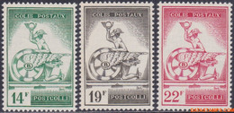 België 1957 - Mi:postpakket 47/49, Yv:CP 361/363, OBP:TR 361/363, Railway Stamps - XX - Postal Package Stamps Mercury A - 1952-....
