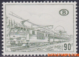 België 1973 - Mi:eisenbahn 348 X, Yv:CP 424, OBP:TR 424 P1, Railway Stamps - XX - Electric And Diesel Locomotives - 1952-....