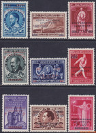 België 1947 - Mi:781/789, Yv:PA 15/23, OBP:PA 15/23, Airmail Stamps - XX - Cipex New York - Aéreo