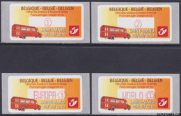 België 2010 - Mi:autom 70, Yv:TD 78, OBP:ATM 127 S 11, Machine Stamp - XX - Postal Vehicles Then And Now - Automatenmarken (ATM)