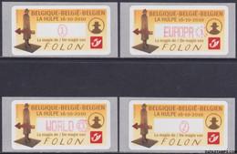 België 2010 - Mi:autom 71, Yv:TD 79, OBP:ATM 128 S11, Machine Stamp - XX - The Magic Of Folon La Hulpe - Automatenmarken (ATM)
