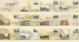 België 2013 - OBP:BK 234/244, Postcard - XX - Then And Now - Tarjetas Ilustradas