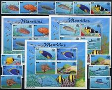MAURITIUS 2000 Fish Fishes Corals Marine Life Animals Fauna MNH - Peces