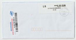 4297 FRANCE Recommandé Registered Code Barre  Curiosité 2021 Départ Etampes Pour Nantes - EMA (Printer Machine)