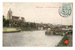 23446-LE-39-DOLE-Le Canal Du Rhône Au Rhin--------------péniches - Dole