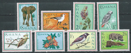 Ghana YT N°181/188 Animaux Et Fleurs Neuf ** - Ghana (1957-...)