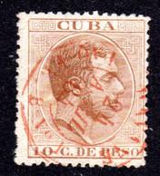 Cuba, 10 C. M. Rotem Schiffspoststpl. HAVANE PAQ. FR. B No.1 24 AVRIL 84. - Ohne Zuordnung