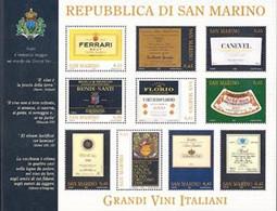 SAN MARINO 2005 - Grands Vins Italiens - Feuillet De 10 V. - Wines & Alcohols