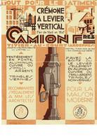 """Affiche  CAMION  Fres  CREMONE A LEVIER VERTICAL  VIVIER-AU-COURT (ARDENNES"""" - 1900 – 1949"""