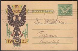 DR 1925 Sonderpostkarte Verkehrs-Ausstellung Ganzsache P206 IIb Gebrauch  (28733 - Enteros Postales