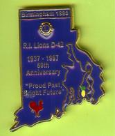 Gros Pin's Club Lions Birmingham 1998 Rhode Island 1937-1997 (60th Anniversary) Coq - #331 - Associations