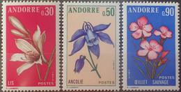 DF40266/2376 - 1973 - ANDORRE FR. - FLORE - SERIE COMPLETE - N°229 à 231 NEUFS** - Ungebraucht