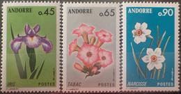 DF40266/2378 - 1974 - ANDORRE FR. - FLORE - SERIE COMPLETE - N°234 à 236 NEUFS** - Ungebraucht