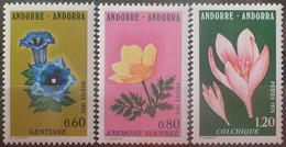 DF40266/2381 - 1975 - ANDORRE FR. - FLORE - SERIE COMPLETE - N°245 à 247 NEUFS** - Ungebraucht