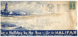 (TT 5) Canada - Postmark On Cover - Lighthouse / Phare - (1 Covers) Halifax (posted 1938) - Fari