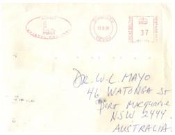 (TT 5) UK - Postmark On Cover - Lighthouse / Phare - (1 Covers) Lundy (posted 1991 To Australia) - Fari