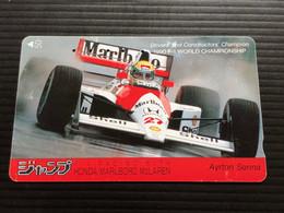 Telecarte JAPON / 110-011 - F1 Racing With HONDA MARLBORO McLAREN - AYRTON SENNA  - Car Racing - 1 JAPAN Used Phonecard - Voitures