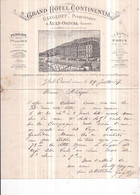 Dépt 80  AULT-ONIVAL  GRAND HOTEL CONTINENTAL  GANGLOFF, Propriétaire  Lettre Illustrée 1897 - Ault