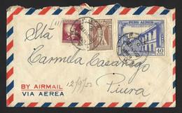 Peru Cover 1952 From Lima Sent To Piura - Peru