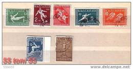 1931   Balkans Games (I) Yvert- 224-230 ;Michel-242/248  7v.- Used /gest.(O)   BULGARIA / Bulgarie - Gebraucht