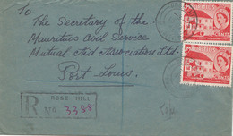 Mauritius: 1958: Registered Rose Hill To Port Louis - Civil Service - Mauritius (1968-...)