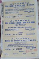 TICKET . GRANADA  ALHAMBRA . 1959 - Tickets D'entrée