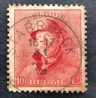 OBP 168 Albert I Met Helm 10c Rood -  Gestempeld EC STABROECK - 1919-1920 Behelmter König