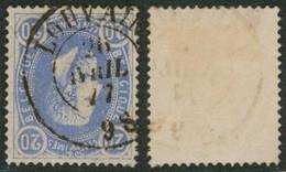 """émission 1869 - N°31 Obl Double Cercle """"Louvain"""" / Collection Spécialisée. - 1869-1883 Leopold II"""