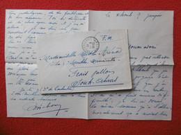 LETTRE F.M CACHET KROUBS CONSTANTINE VIA SOUK AHRAS ALGERIE 1940 - Brieven En Documenten