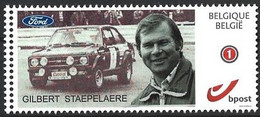 DUOSTAMP** / MYSTAMP** - Gilbert Staepelaere - Ancien Pilote De Rallye - Anvers 1937 / + Anvers 1996 - Coches
