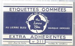 JC,pochette D' étiquettes Gommées ,AU LIERRE BLEU ,n° 311, 120 X 80 , 10 étiquettes , 2 Scans, Frais Fr 1.95 E - Altri
