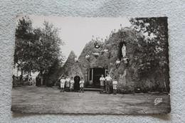 Cpsm, Merlimont Plage, La Grotte De Notre Dame De Lourdes, Pas De Calais 62 - Andere Gemeenten