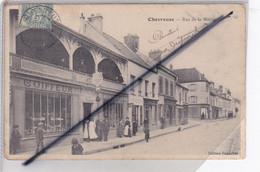 Chevreuse (78) Rue De La Mairie  (belle Animation ; Commerces :Coiffeur / Papeterie... - Chevreuse