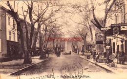 CPA TRETS - BOULEVARD DE LA REPUBLIQUE - Trets