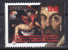 MACEDONIA 2021,450th ANN. OF THE BIRTH OF CARAVAGGIO,Painter,ART,MNH - Macédoine