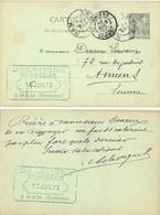 DELAVIGNE BRASSEUR  HAM SOMME TàD 15 JUIN 93 Sur ENTIER C.P. TYPE SAGE 10 C. - Standard Postcards & Stamped On Demand (before 1995)