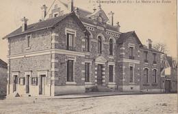 CHAMPLAN  La Mairie Et Les écoles - Autres Communes