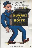 Poste Postes - Carte à SYSTEME - Boum V'la Le Facteur - Ouvrez La Boîte Et Vous Verrez - LE POULDU - - Postal Services