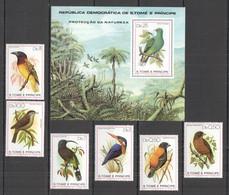 NW0067 1979 S. TOME E PRINCIPE FAUNA BIRDS PROTECTION MICHEL #604-9 BL39 42 EURO 1SET+1BL MNH - Altri