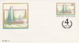 NATIONS UNIES 1989 ENTIER LETTRE NEUF 4 CENTS - Briefe U. Dokumente