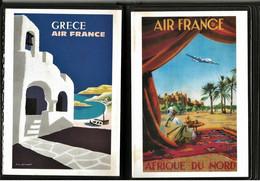 Lot 22 CPA Affiches Air France, Aéropostale, Chemin Fer Orléans-Midi 11 Scans - Frankreich