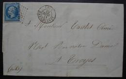Sens Sur Yonne 1863 Bertheau-Marois Fabrique D'allumettes Chimiques à L'instar De Paris, Lettre Pour Troyes - 1849-1876: Classic Period