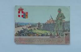 CARTOLINA 50° DIVISIONE FANTERIA REGINA VIAGGIATA (REGGIMENTALE ALFERI & LACROIX 1940 XVIII - Altri
