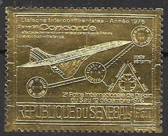 Senegal Mnh ** Gold Stamp Concorde 28 Euros 1976 - Senegal (1960-...)